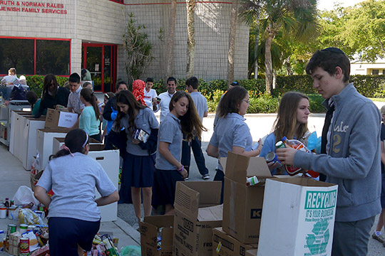 Day Schools & Zale Unite in Pre-Passover Drive for Jacobson Family Food Pantry at JFS (April 10, 2014)