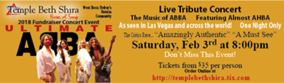 The Ultimate ABBA Tribute Concert A TBS Fundraiser