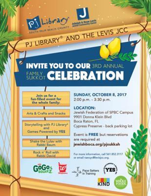 PJ Library and JCC Community Sukkot Event