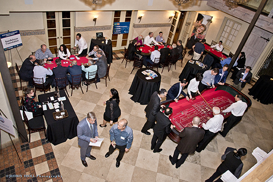 Guys Put on Best Poker Faces at Men's Night Out: Poker & Casino Night