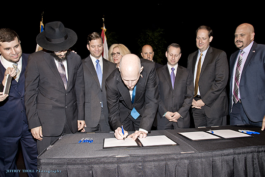 Federation Hosts Governor Scott's Signing Ceremony for Bill Fighting BDS (April 6, 2016)
