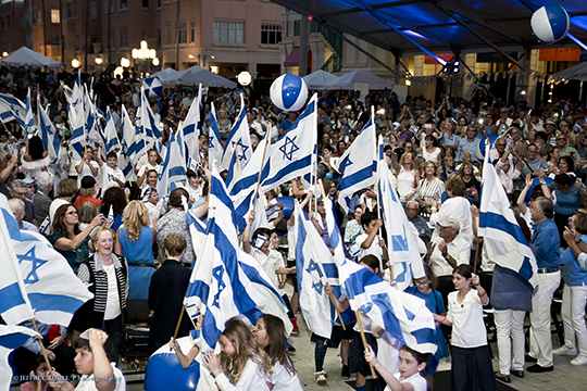 3,500 Celebrate Israel@70 at Mizner Park Amphitheater