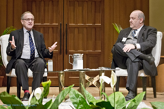 "More than 800 Hear ""A Conversation with Alan Dershowitz"" at JCRC Event (March 24, 2016)"