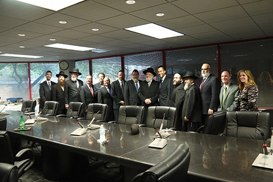 Rabbi Lau, Former Chief Rabbi of Israel, Speaks with Rabbis, Leaders and Students at Federation (February 6, 2015)