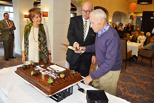 Sam Iselin Celebrates 102nd Birthday at Sinai Residences of Boca Raton
