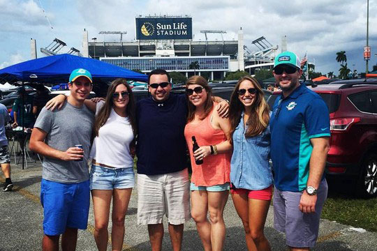 A Winning Day for Young Adults Day with the Dolphins (October 25, 2015)